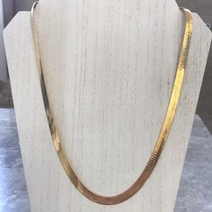 24k Gold Plated Wide Snake Chain Unisex